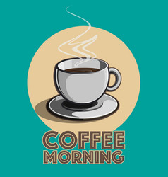 coffee morning vector image