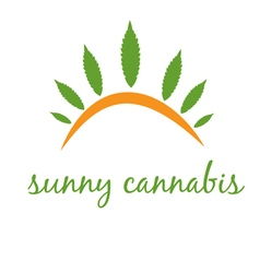 Concept icon cannabis with sun vector