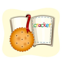 Cracker and opened book vector