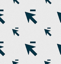 Cursor arrow minus icon sign Seamless pattern with vector image