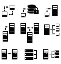 Data icons vector