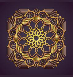 decorative golden mandala design vector image