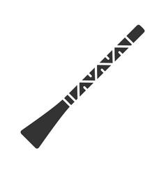 Didgeridoo glyph icon vector