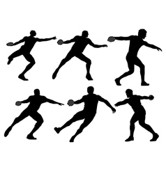 Discus throw silhouette vector