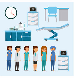 doctor medical people health care equipment vector image