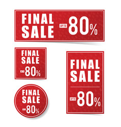final sale advertising set vector image