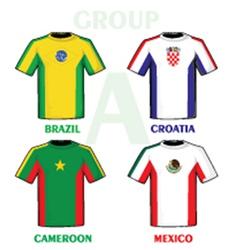 Football world cup jerseys vector