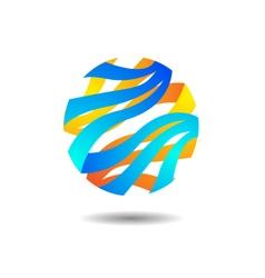 Glossy sphere logo vector
