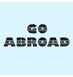 Go abroad background vector