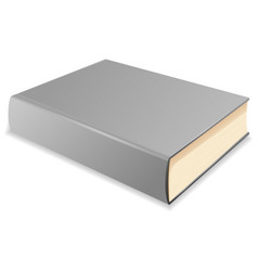 gray book vector image