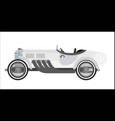 Gray long vintage car vector