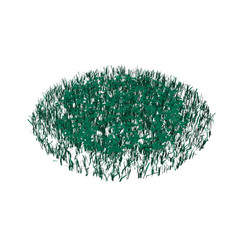 Green grass isolated on white background circle vector