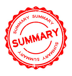 Grunge red summary word round rubber seal stamp vector