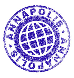 Grunge textured annapolis stamp seal vector