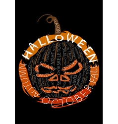 Halloween words composition vector image