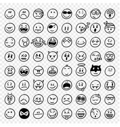 hand drawn emoticons vector image
