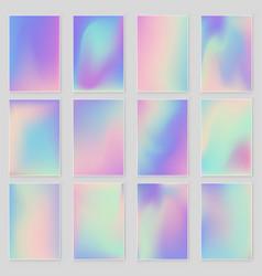 Holographic foil gradient iridescent vector
