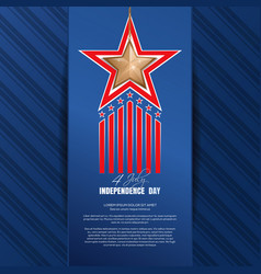 Independence day background fourth of july vector
