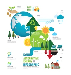 Infographic eco energy of the world concept vector image