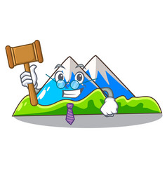 Judge mountain cartoon images are very beautiful vector
