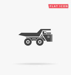 Large mining dumper tipper vector