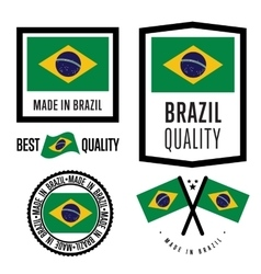 Made in brazil label set vector