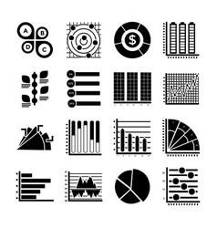 modern infographics glyph icons vector image