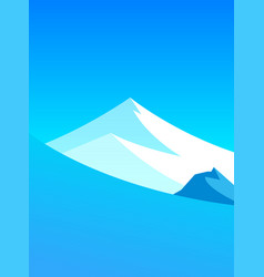 mountain landscape with copy space at top and vector image