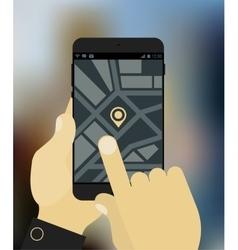 Navigation app mockup vector