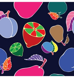 negative fruit print vector image