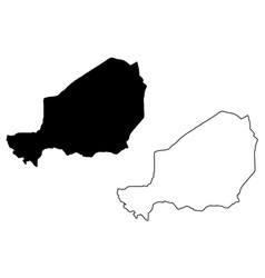 Niger map vector