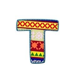 Ornament t retro vector