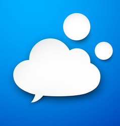 Paper white cloud vector image