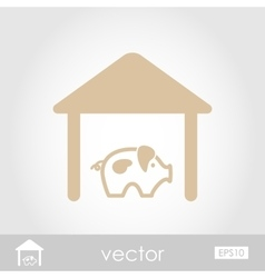 Pigsty icon vector image