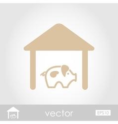 Pigsty icon vector
