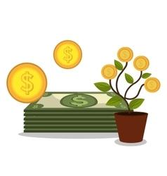 Profitable growth design vector