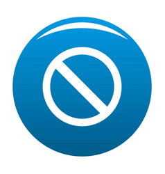 prohibition sign or no sign icon blue vector image