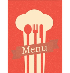 restaurant menu retro poster vector image