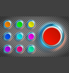 round colored buttons for web site or app vector image