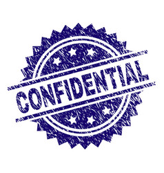 Scratched textured confidential stamp seal vector