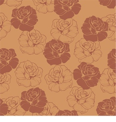 Seamless brown floral pattern with chocolate roses vector image