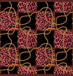 seamless pattern with belts chain and texture of vector image