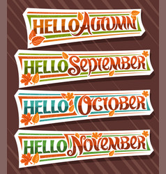 Set for autumn season vector