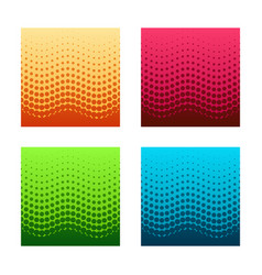 set of gorizontal seamless halftone patterns vector image