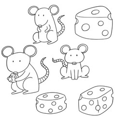 Set of mouse vector