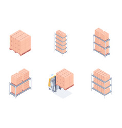 set of warehouse units vector image