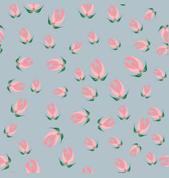 Slavic seamless pattern of buds vector