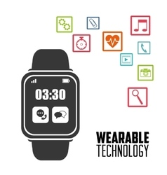 Smart watch device portable wearable technology vector