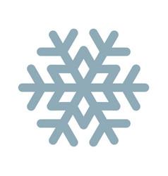 Snowflake line icon frozen snow frost and fridge vector