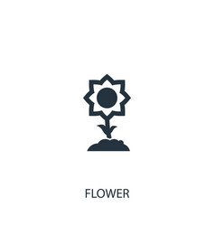 Sunflower icon simple gardening element symbol vector